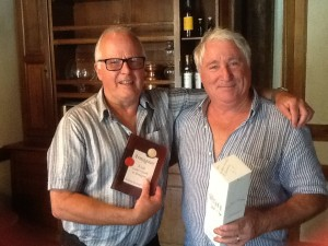 Geoff James with Monsieur Pierre Laberdolive, Producer of fine Armagnac