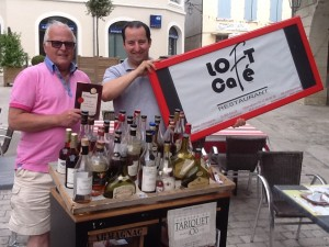 Geoff James with Jean-Philippe Labarthe and his Chariot of Armagnac